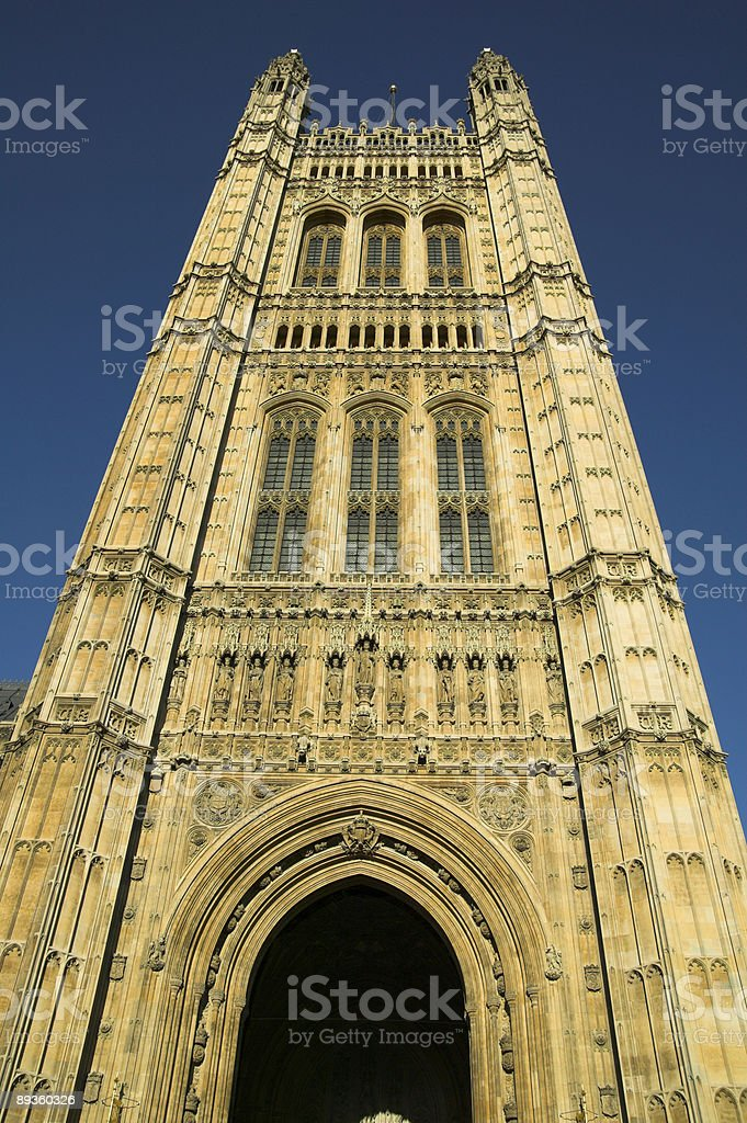 St.Stephen's Tower The Houses Of Parliament royalty free stockfoto