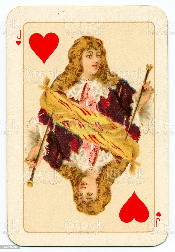 Stuart Jack of Hearts playing card Goodall 1895 stock photo