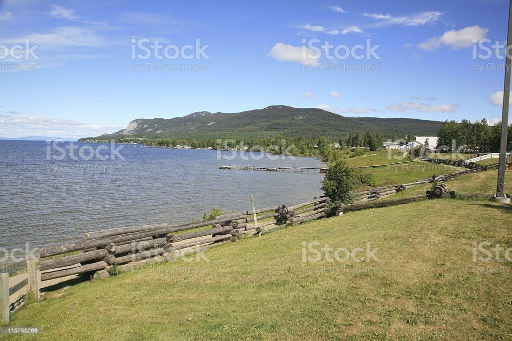 Stuart Lake and Fort St. James National Historic Site. stock photo