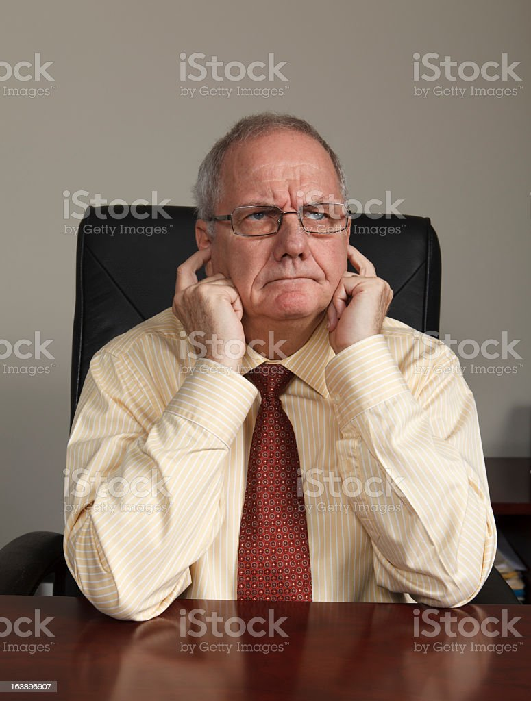 Stubborn Manager royalty-free stock photo