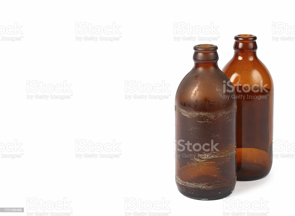 Stubby Beer Bottles stock photo