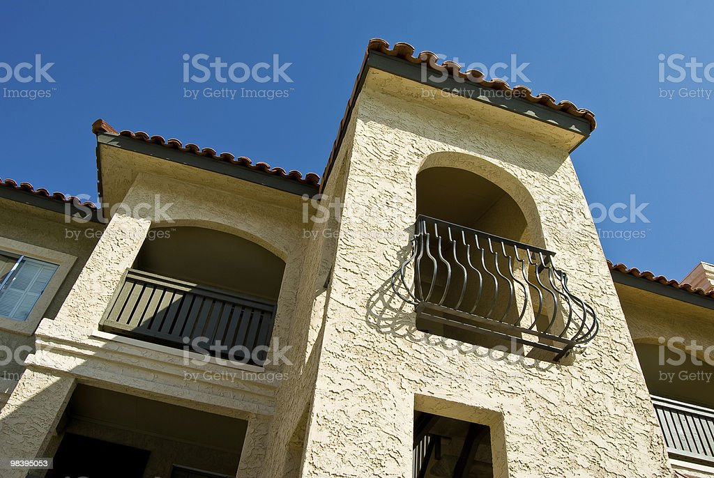 Stucco building royalty-free stock photo