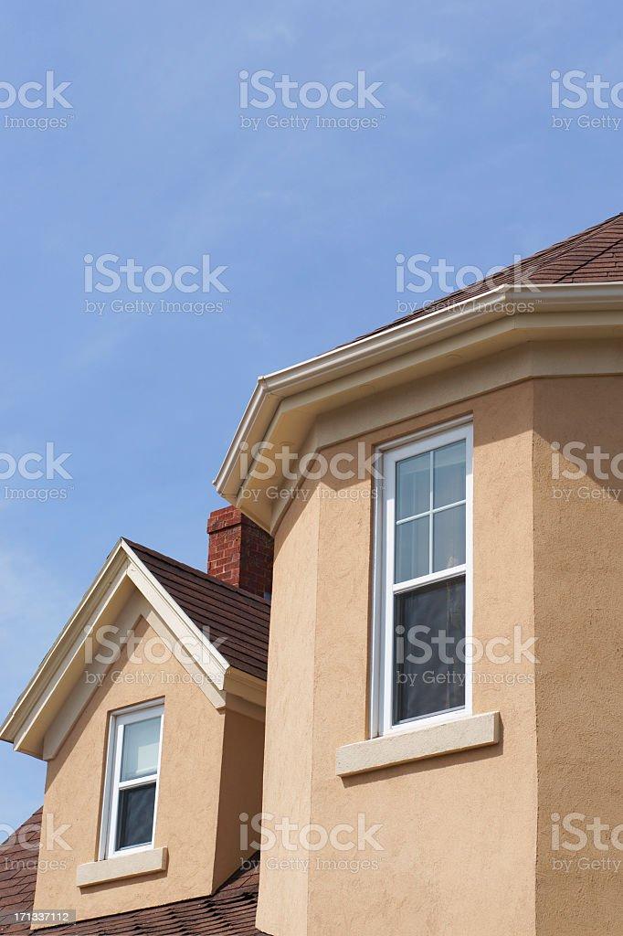 Stucco house detail royalty-free stock photo