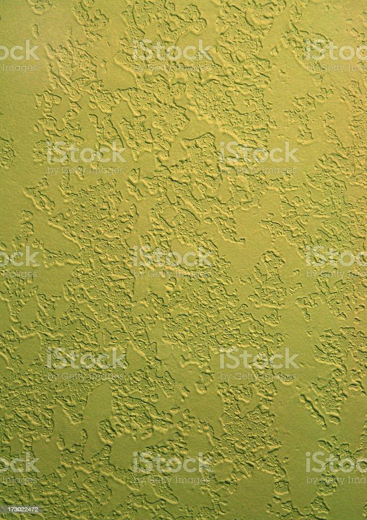 Stucco pattern background.  Yellow/green royalty-free stock photo
