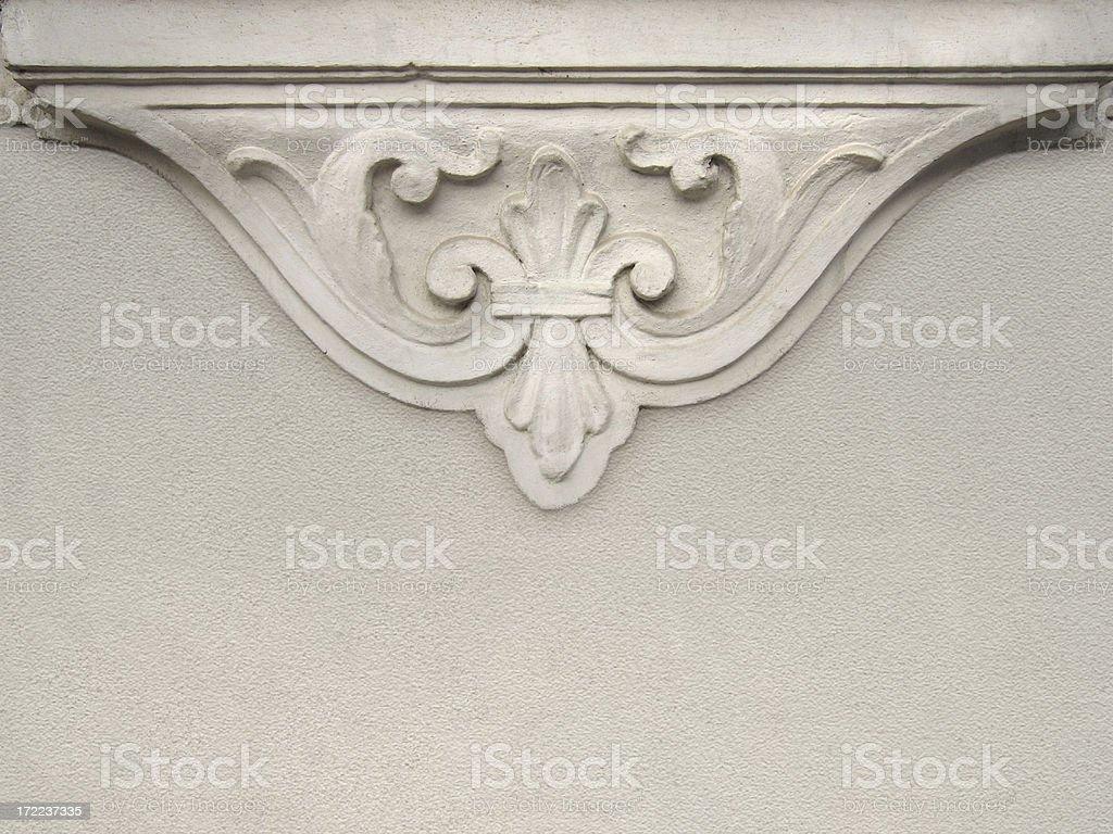 stucco wall decoration stock photo
