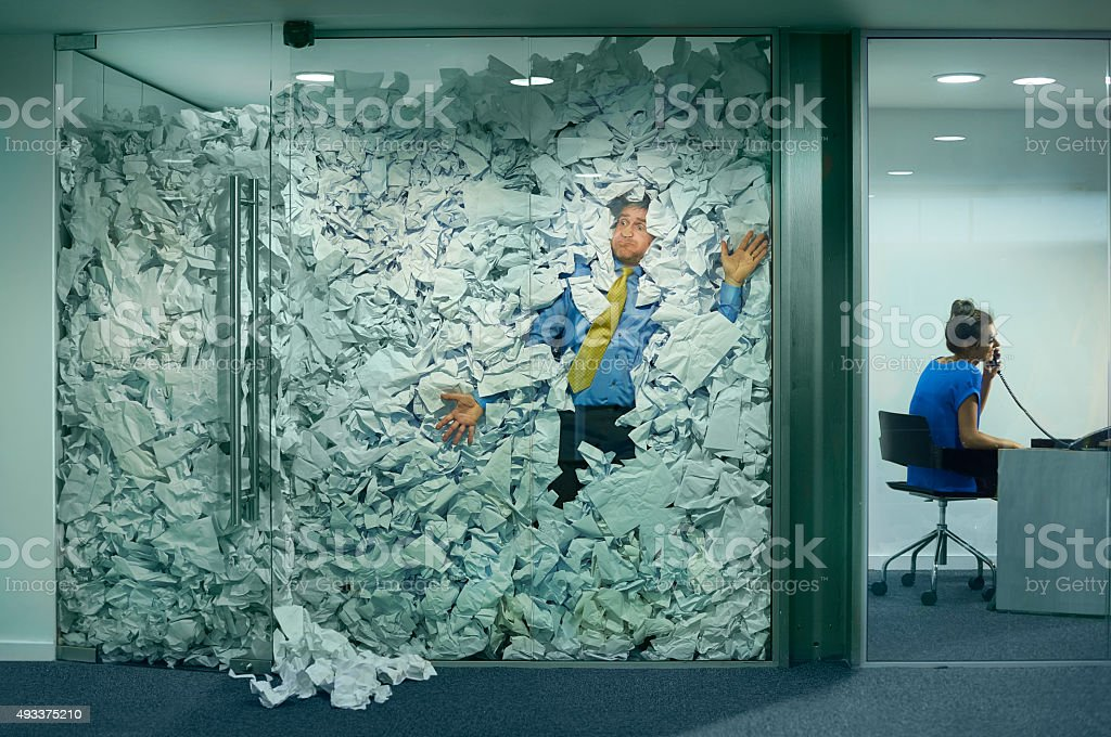 stuck at the office stock photo