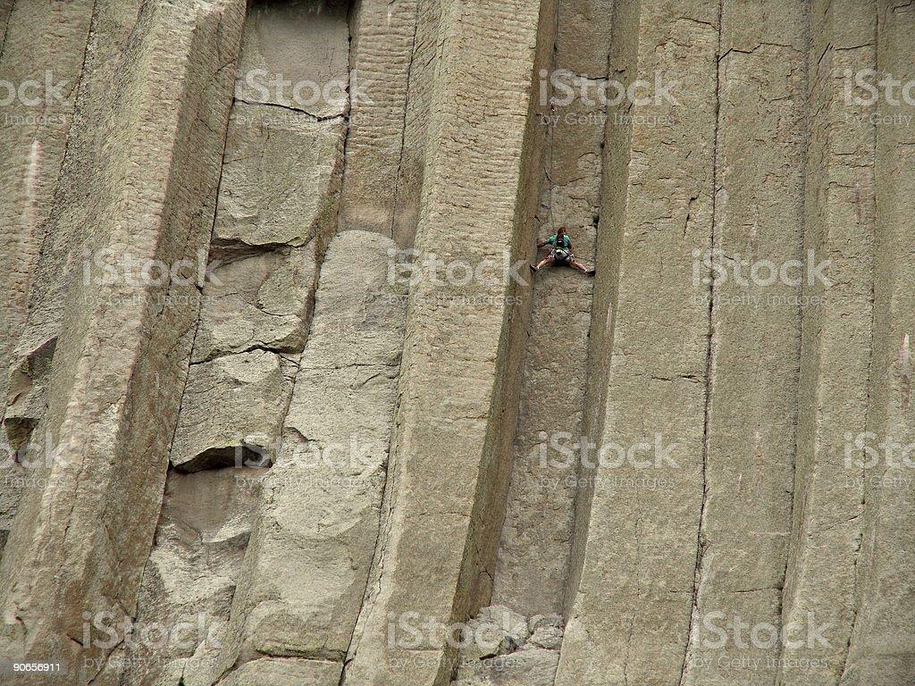 stuck - climbing devils tower royalty-free stock photo