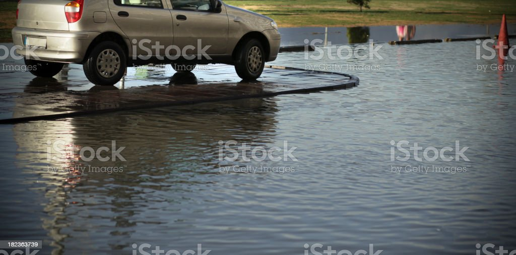 Stuck in Flood stock photo