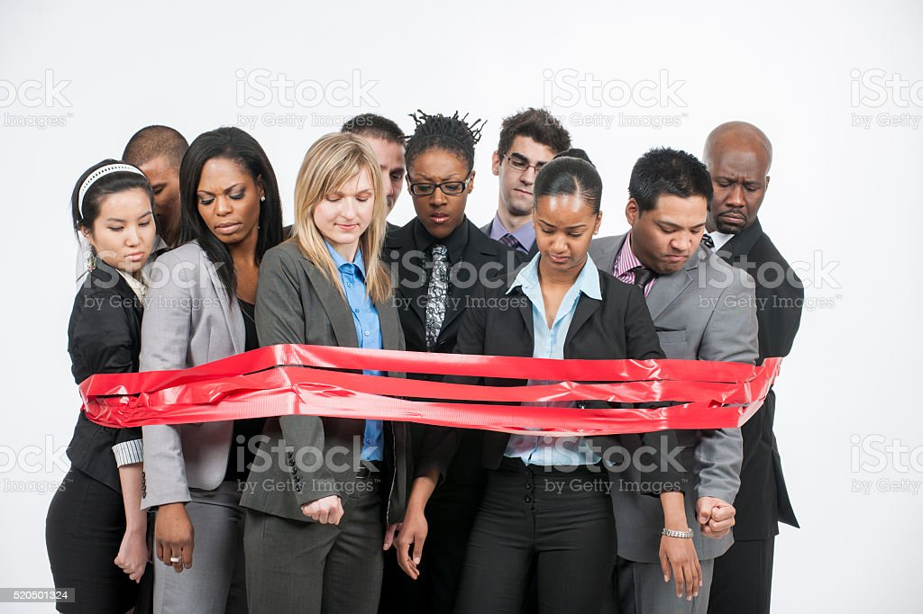 Stuck in Red Tape stock photo