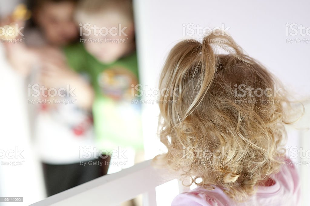Stuck in the Crib - Royalty-free Blond Hair Stock Photo