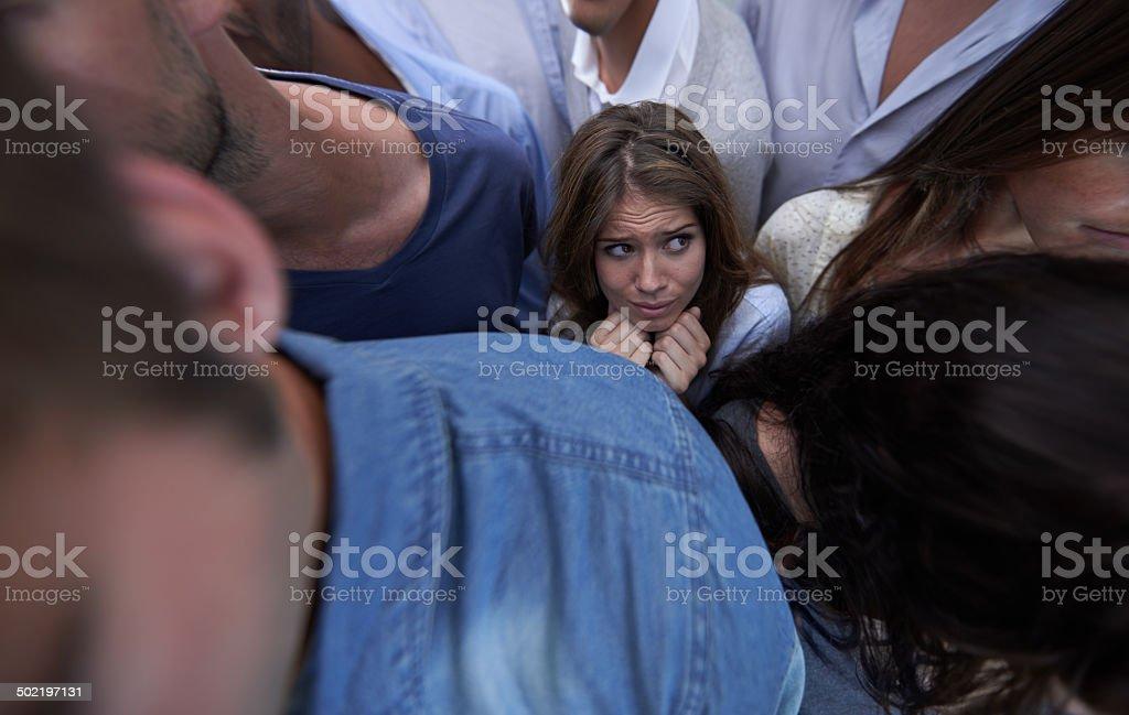 Stuck in the crush stock photo