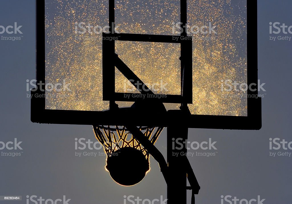 Stuck in the hoop - Royalty-free Aiming Stock Photo