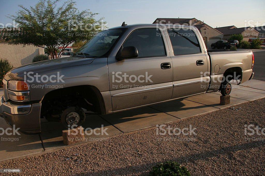 Stuck thanks to theives stock photo