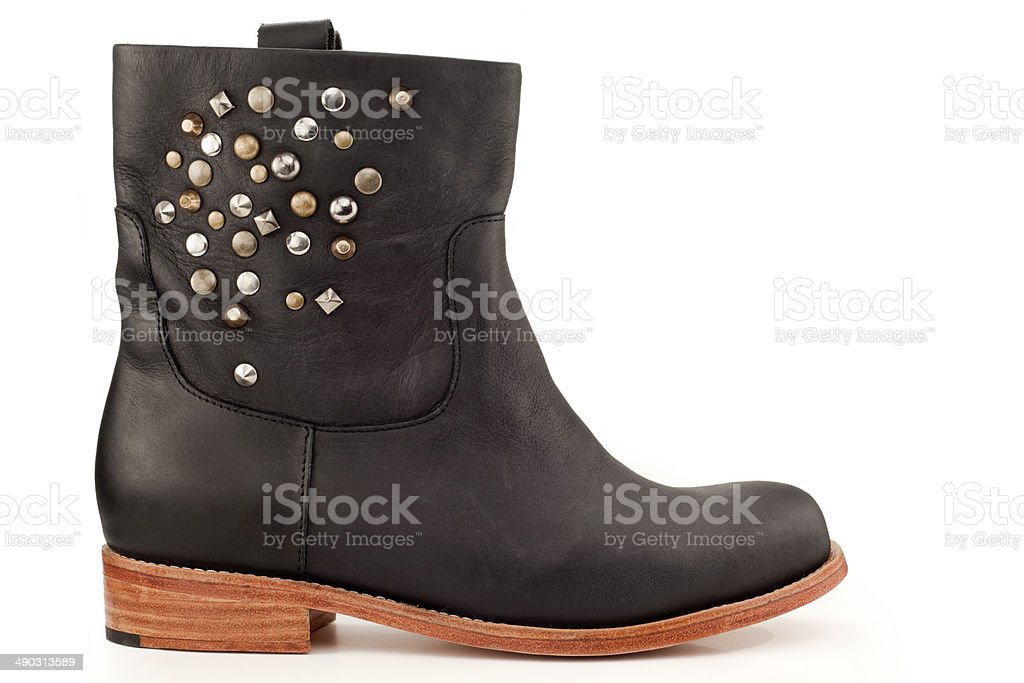 studded boot stock photo