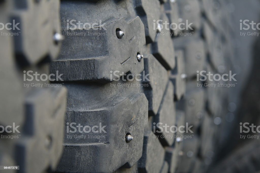 Studded Tires royalty-free stock photo