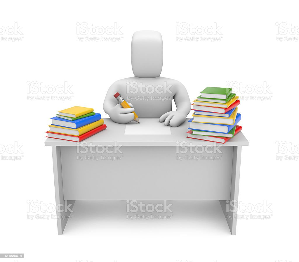 Student and books royalty-free stock photo