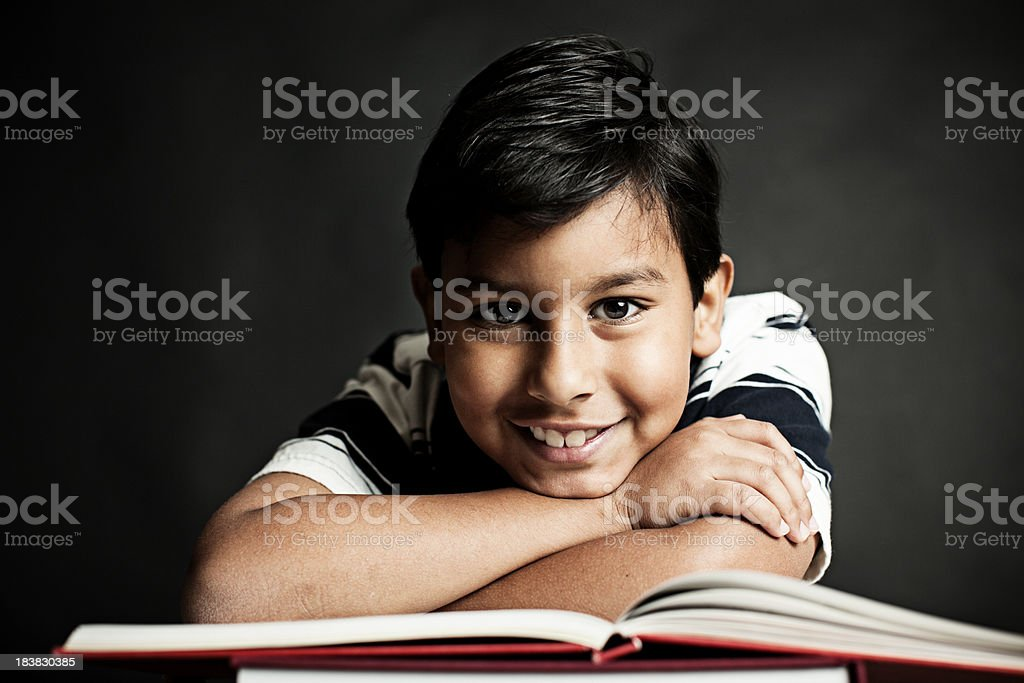 student and his books stock photo