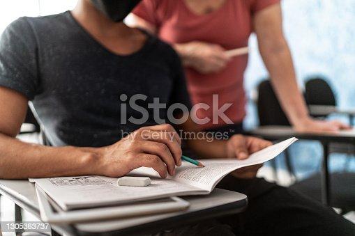 Student asking for teacher support