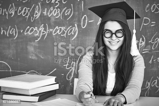istock Student at college 471586697