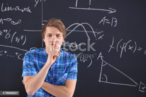 istock Student at the blackboard 478966631