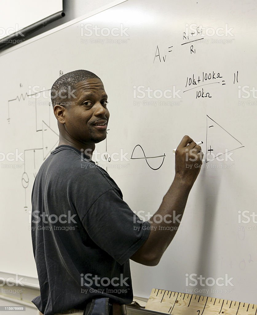 Student at the Board royalty-free stock photo