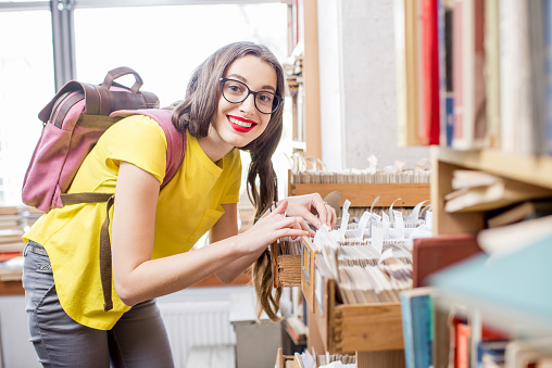 668340340 istock photo Student at the library 654720544