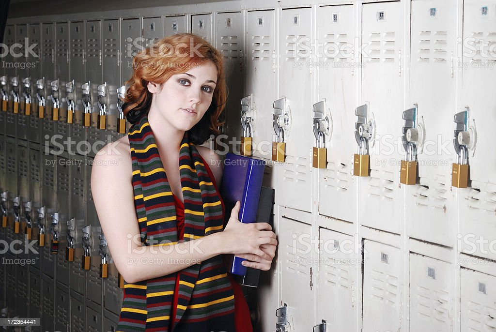 Student at the Locker royalty-free stock photo