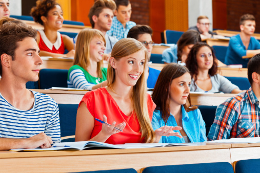 Student At The University Stock Photo - Download Image Now