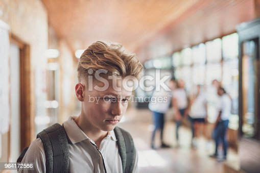 istock Student being bullied by classmates in school 964172586