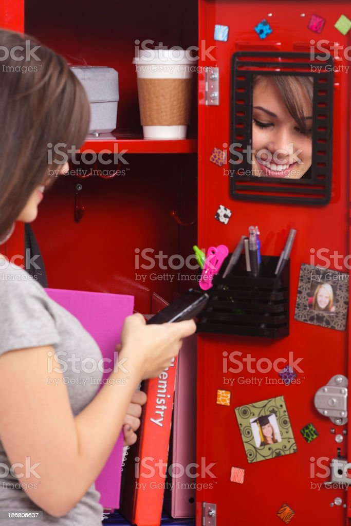 Student by a Locker royalty-free stock photo
