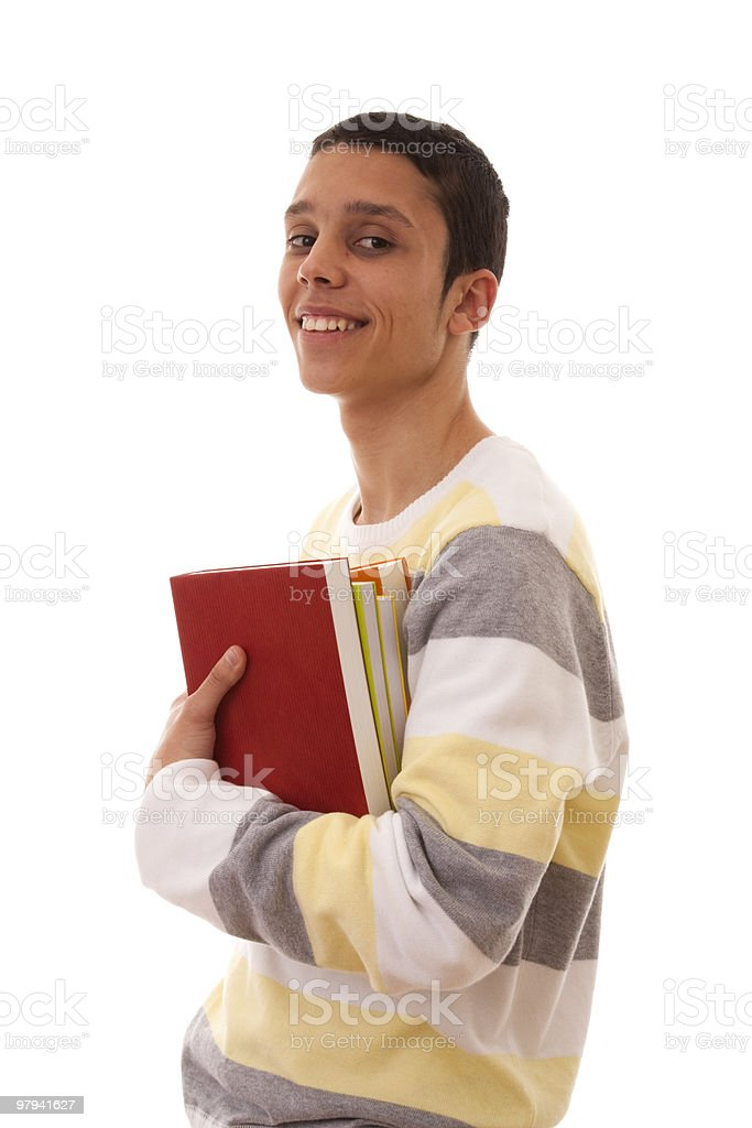 student carrying books royalty-free stock photo