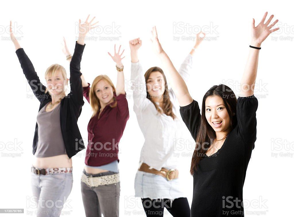 Student cheer royalty-free stock photo