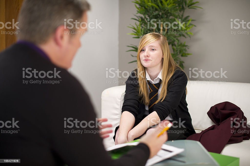 student counsellor stock photo