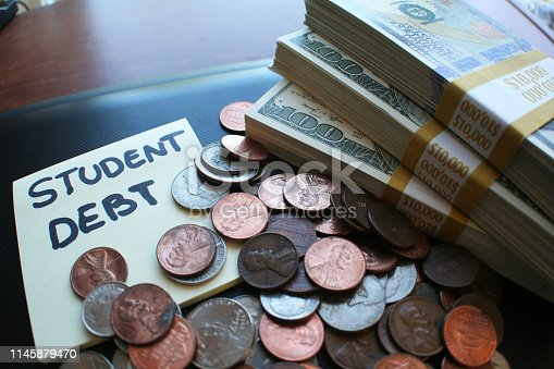 Studen Debt Stock Photo