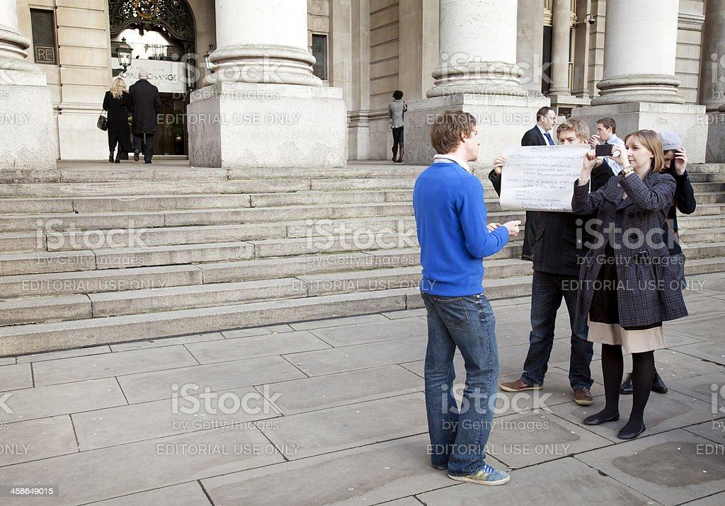 Student documentary, London stock photo