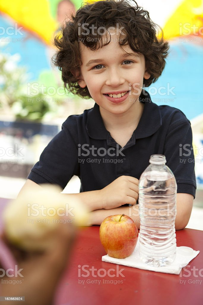 Student during lunch break royalty-free stock photo