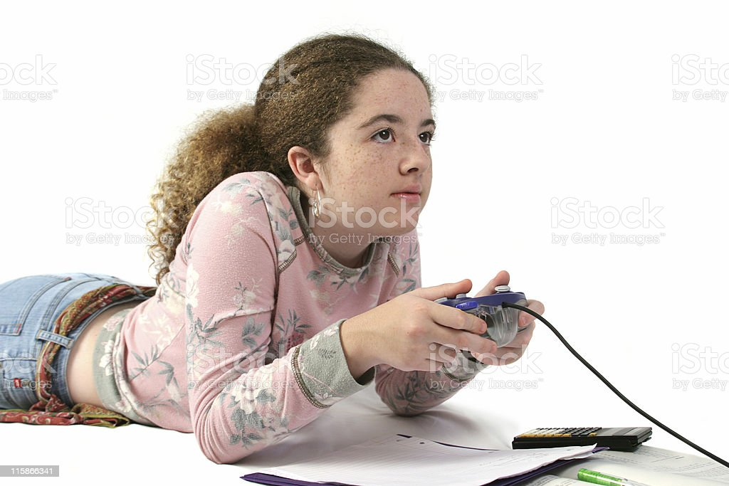 Student Gamer royalty-free stock photo