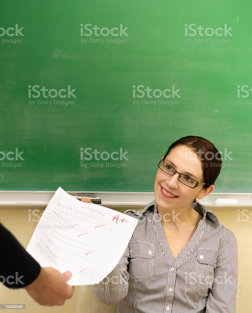 Student gets an A plus! royalty-free stock photo