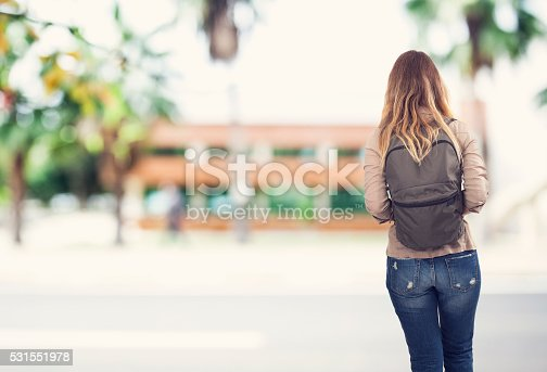 istock Student girl at school 531551978