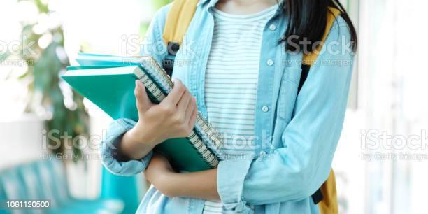 Student girl holding books and carry school bag while walking in picture id1061120500?b=1&k=6&m=1061120500&s=612x612&h=lgcjretbye8c2bmlnhqlnw  vjfta1klketuxldlluq=