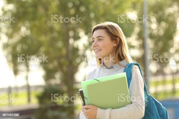 Student girl walking outdoors picture id657452496?b=1&k=6&m=657452496&s=612x612&h=rveioppo a1o6i2gcqhysdusilk3qi78fzigillyi8c=