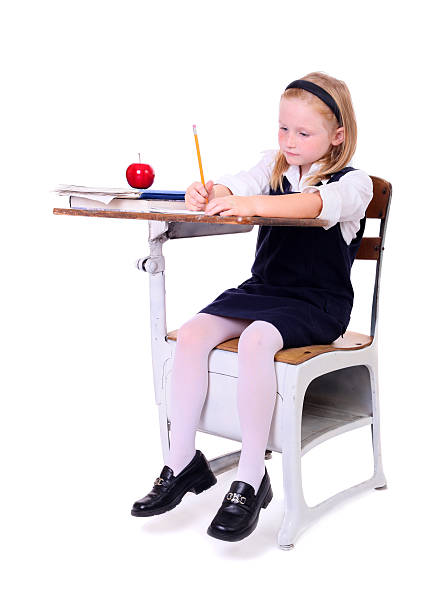 student girl writing - one girl only stock photos and pictures