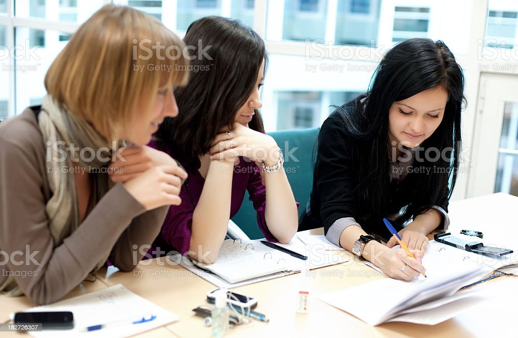 Student group royalty-free stock photo