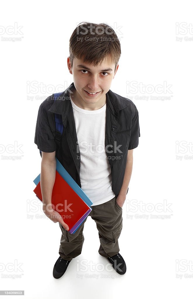Student holding books royalty-free stock photo