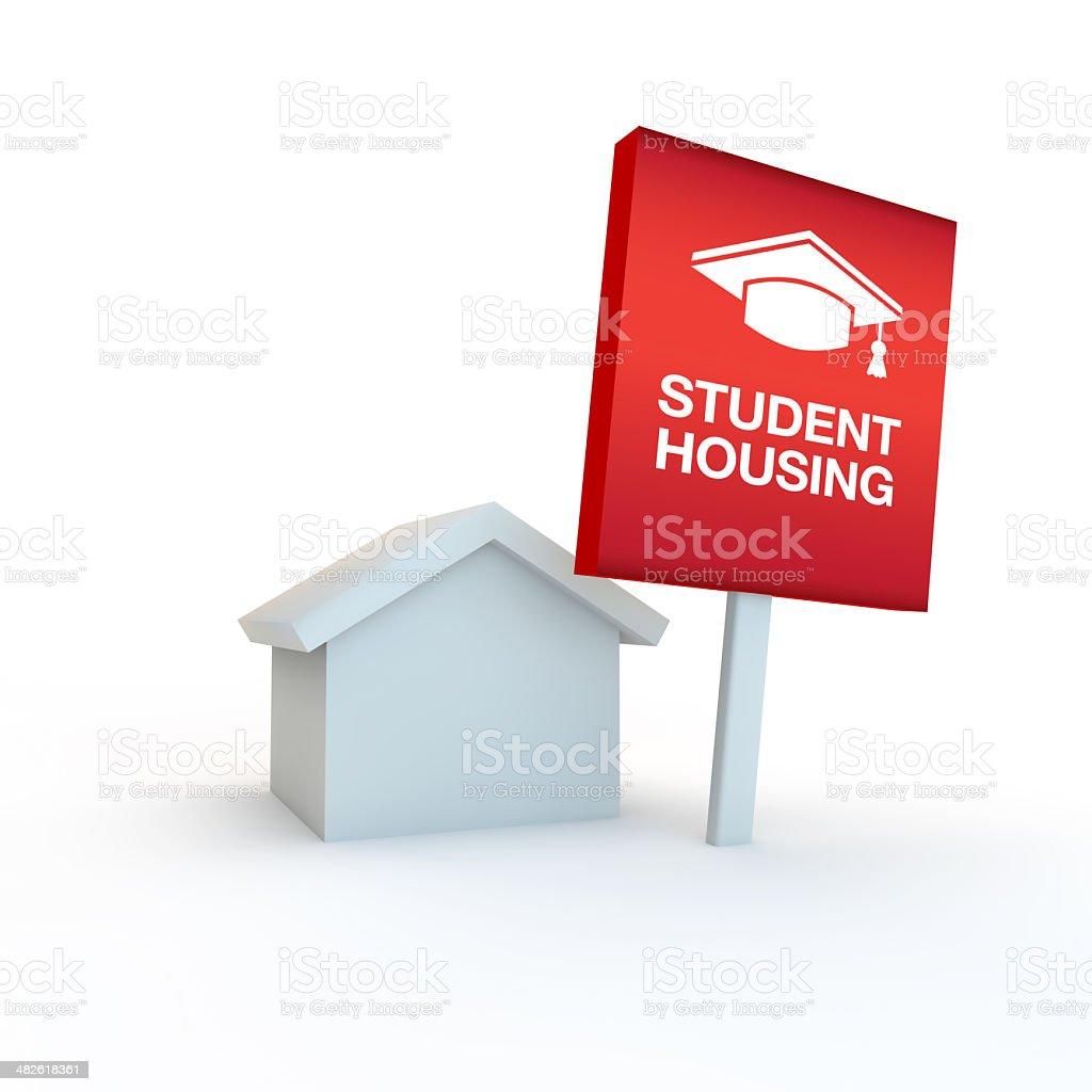 student housing illustration royalty-free stock photo