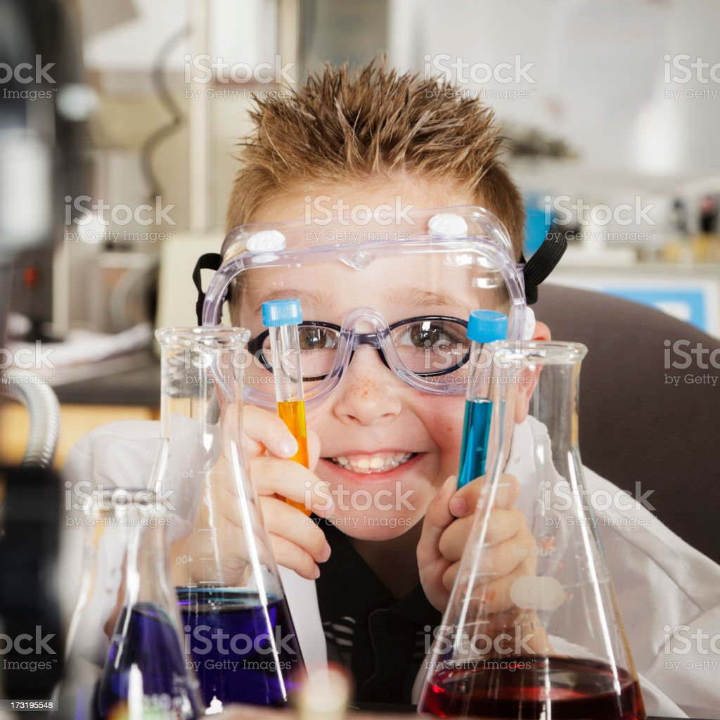 Student in a Laboratory royalty-free stock photo
