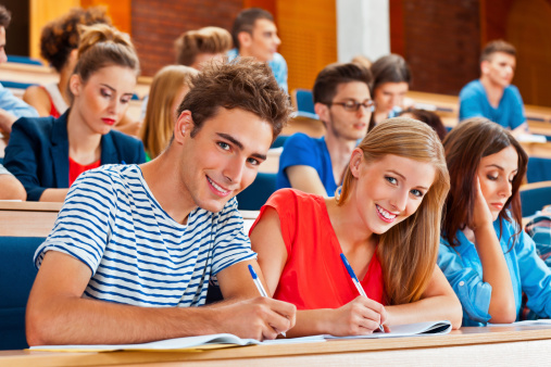 Student In A Lecture Hall Stock Photo - Download Image Now