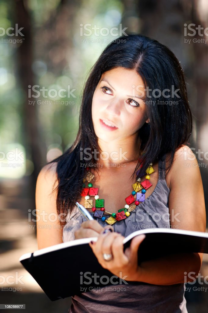 Student in a Park royalty-free stock photo