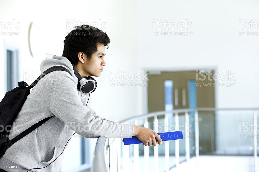 Student in college campus royalty-free stock photo