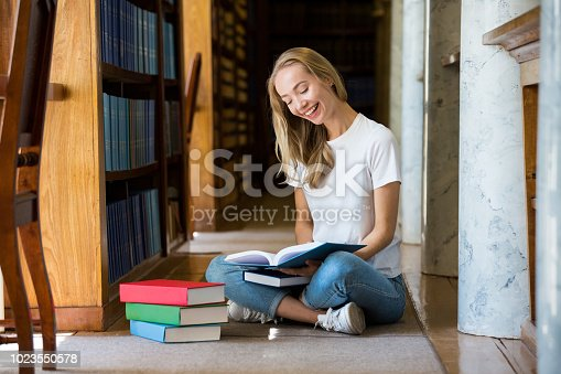 1023548222 istock photo Student in library 1023550578